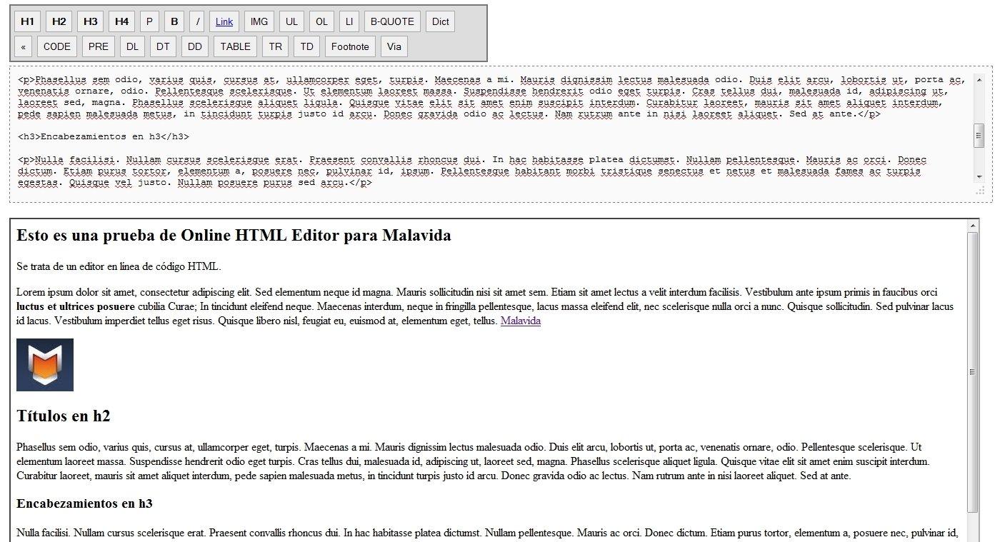 online html editor