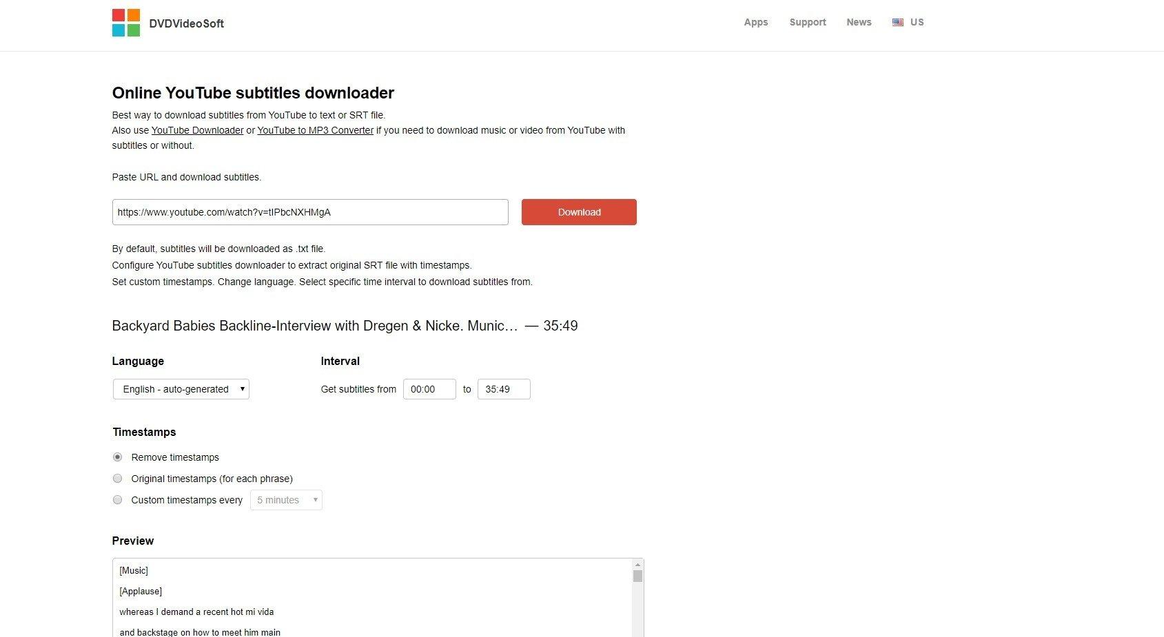 Online YouTube Subtitles Downloader auf Deutsch - Kostenlos
