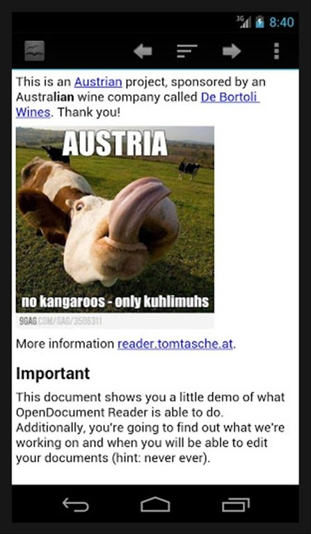 OpenDocument Reader Android image 6