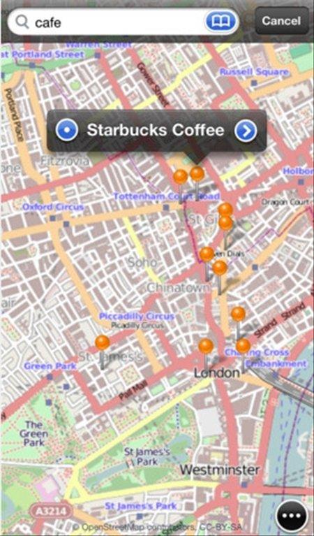 OpenMaps iPhone image 5