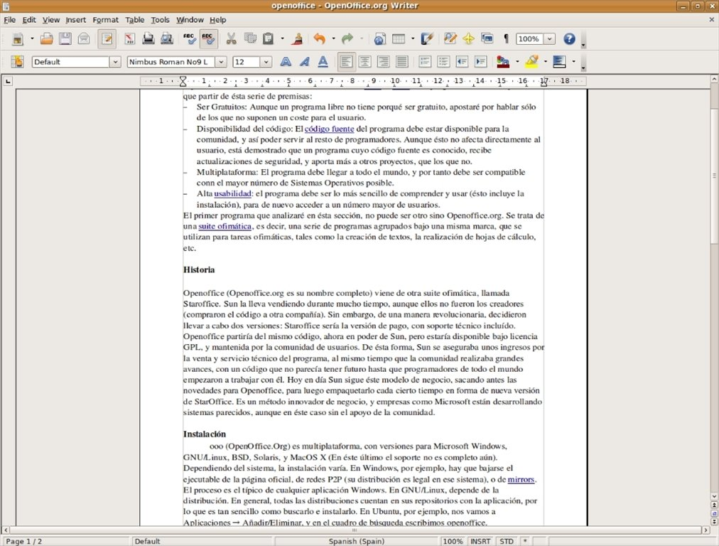 Apache OpenOffice Linux image 6
