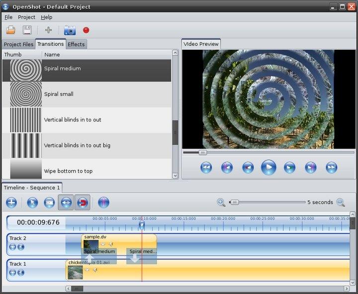 OpenShot Video Editor Linux image 3