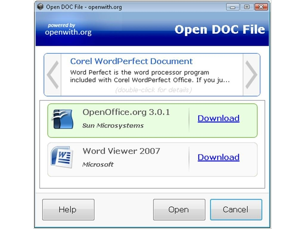 OpenWith org 1 0 3 - Download for PC Free