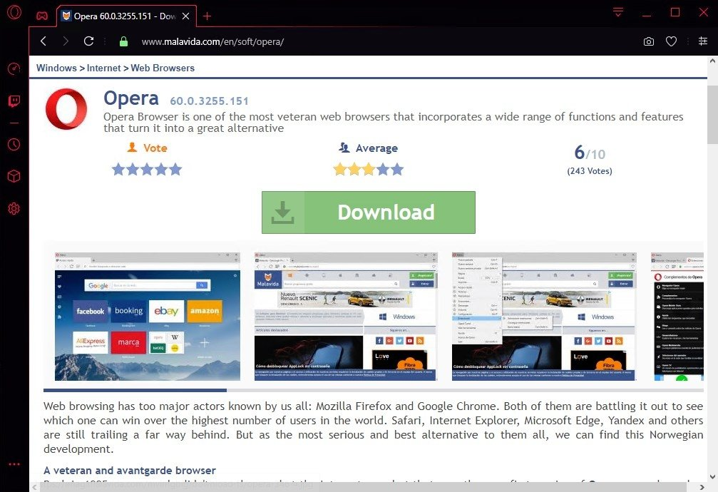 opera free download for pc windows 10