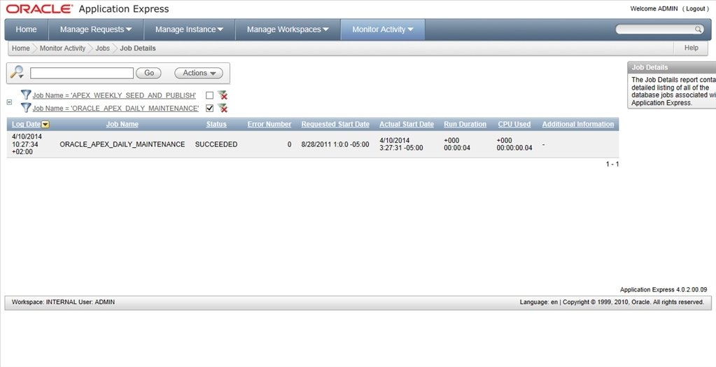Oracle Application Express 18 2 - Download for PC Free