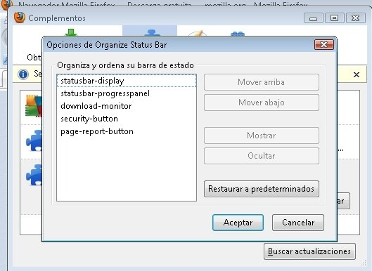 Organize Status Bar image 3