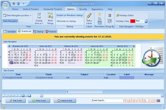 OrgScheduler 8 2 - Download for PC Free