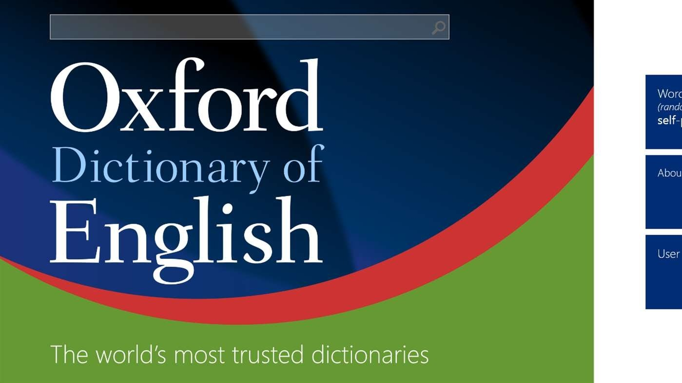Oxford Dictionary of English image 6