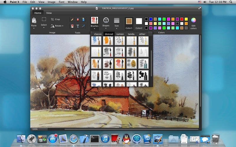 Download paint x 1 1 mac gratis for Paint software for mac