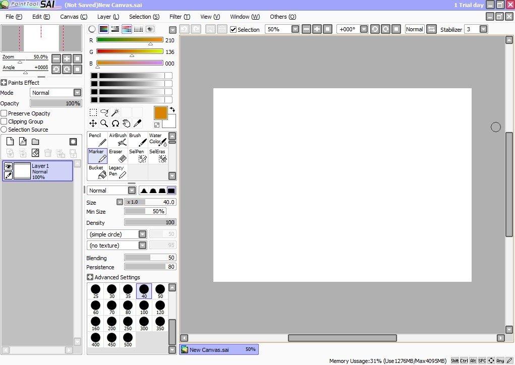 Descargar Painttool Sai 1 2 5 Gratis