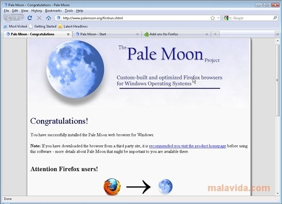 Pale Moon 25.7.1