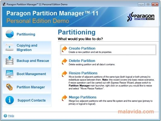 Paragon Partition Manager image 4
