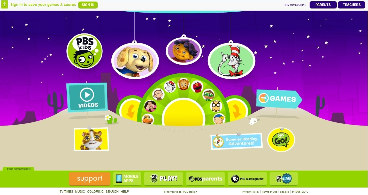 Pbs kids coloring games for free - Pbs Kids Image 1 Thumbnail