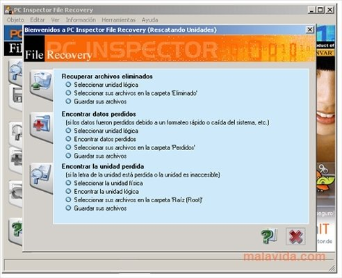 Download PC Inspector File Recovery. Free tool for retrieving deleted