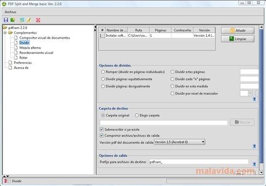 pdf split and merge free download full version