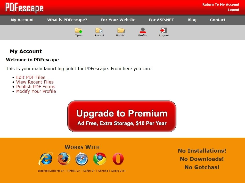pdfescape how to insert a pdf