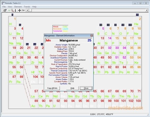 Download Periodic Table 21 For Pc Free