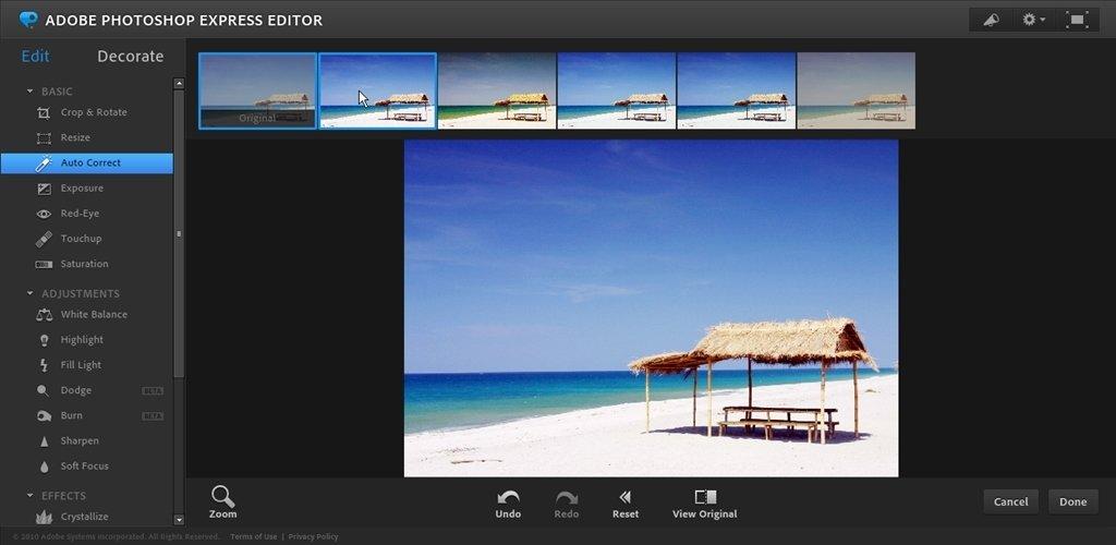 Photoshop Express Online auf Deutsch - Kostenlos