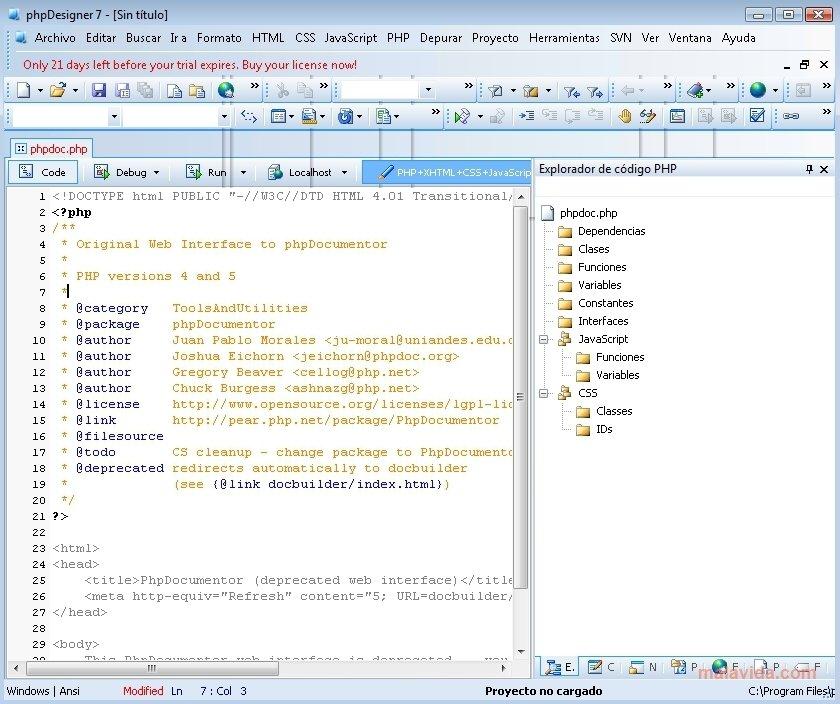 phpDesigner image 4