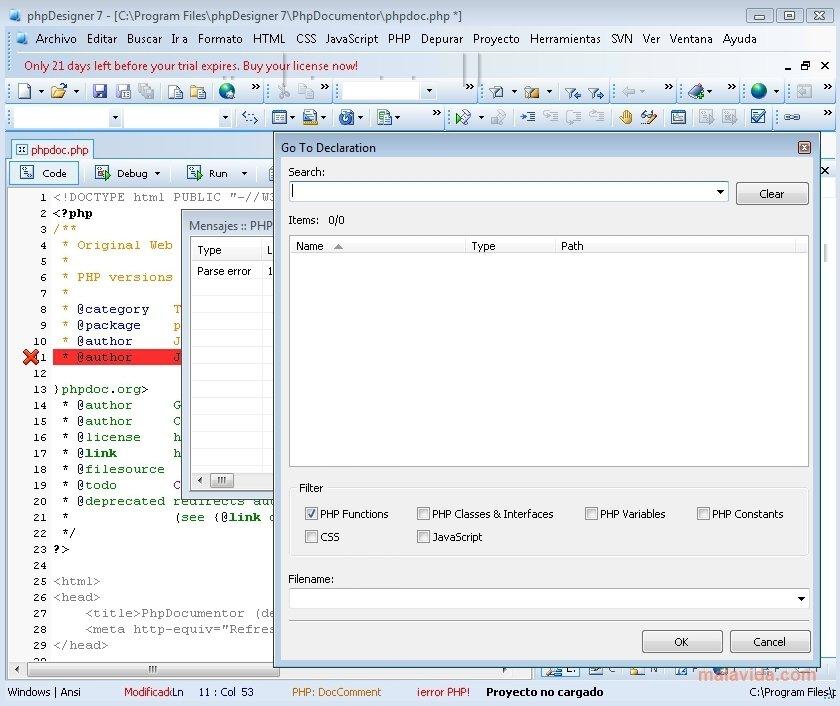 phpdesigner 8.1 2