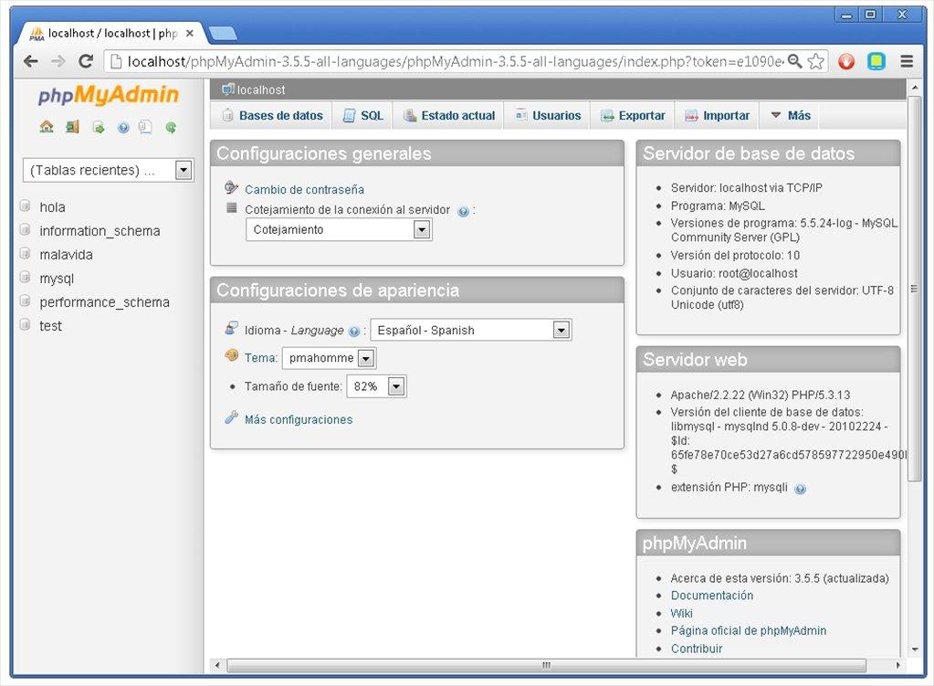 phpMyAdmin 4.3.11.1