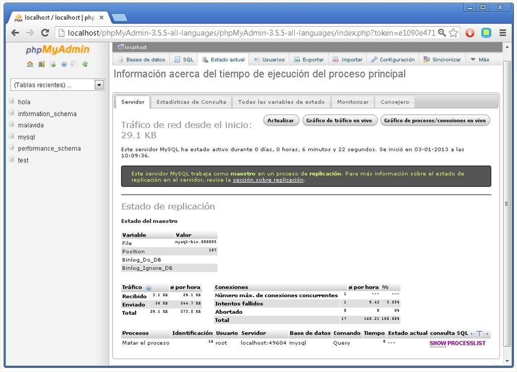 Install apache, mysql, php and phpmyadmin on macos sierra.