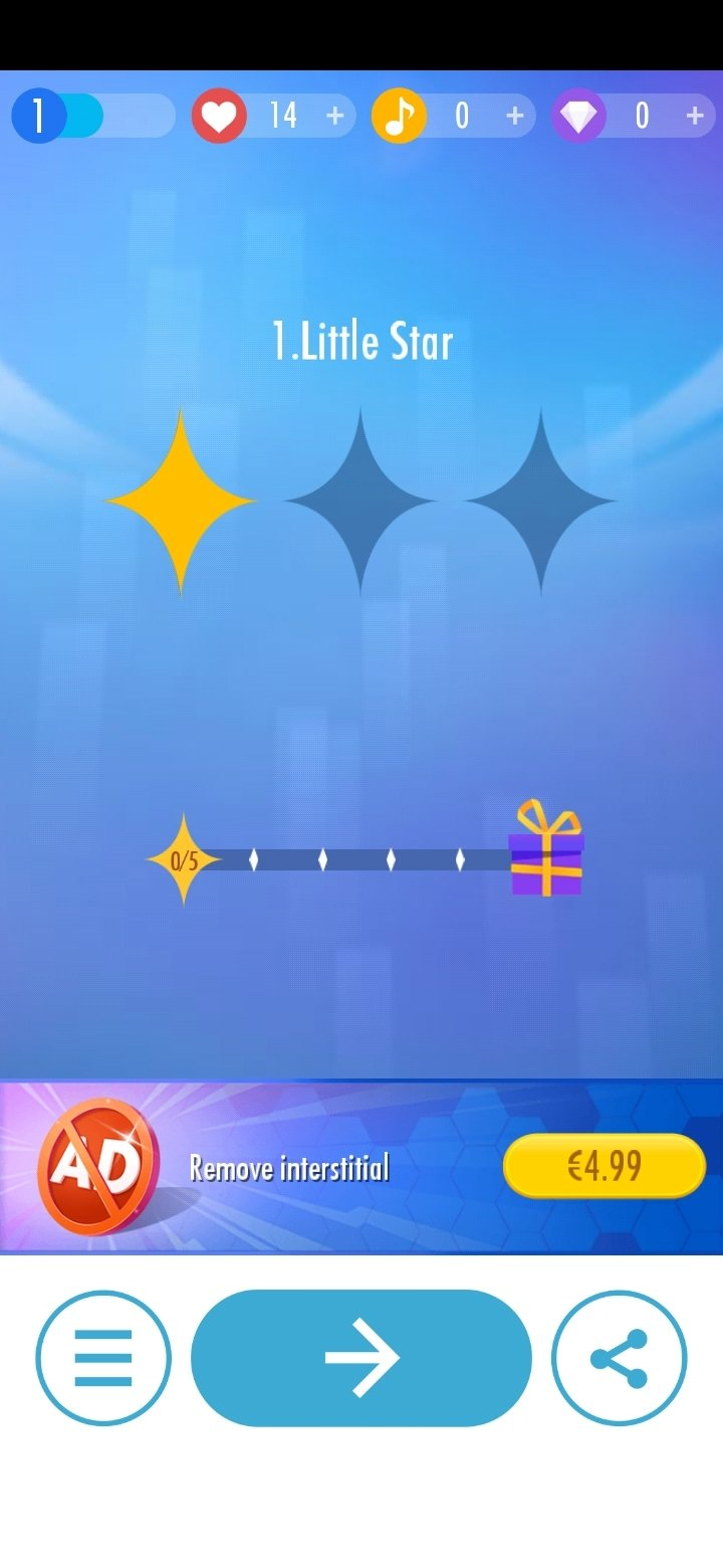 Descargar piano tiles 2 3 0 android apk gratis en for Strumento online gratuito piano piano