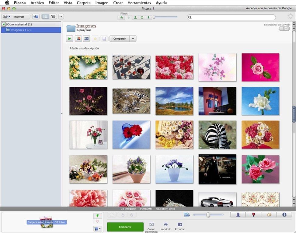 Picasa Mac image 4