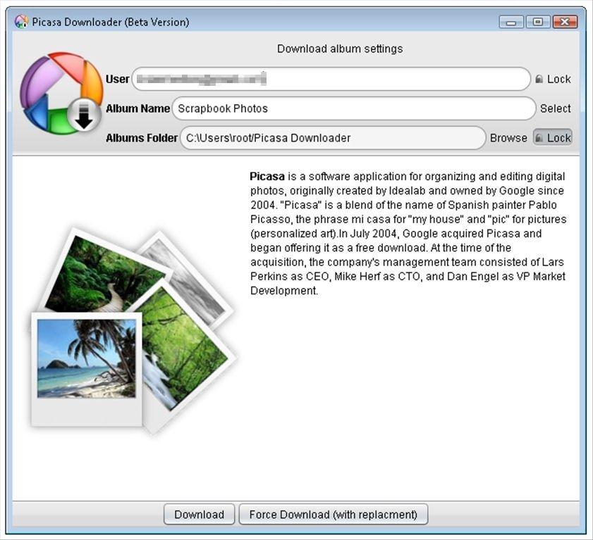 Picasa Album Downloader image 3
