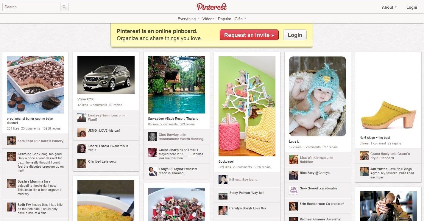 Pinterest Webapps image 4