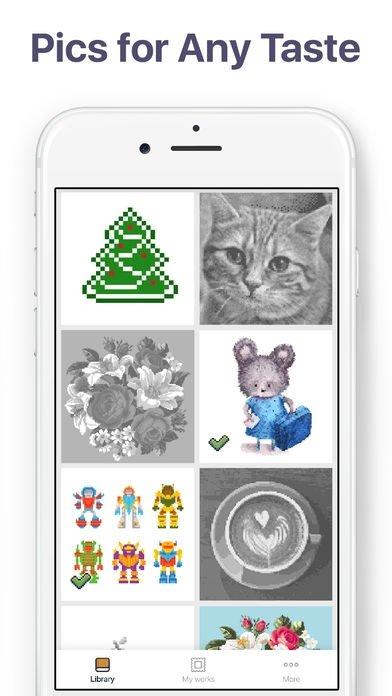 Pixel Art раскраска скачать для Iphone бесплатно
