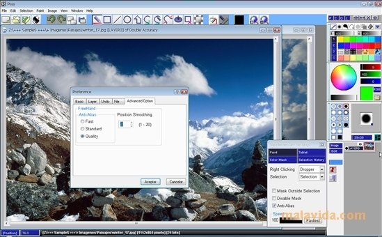 pixia pour windows 7