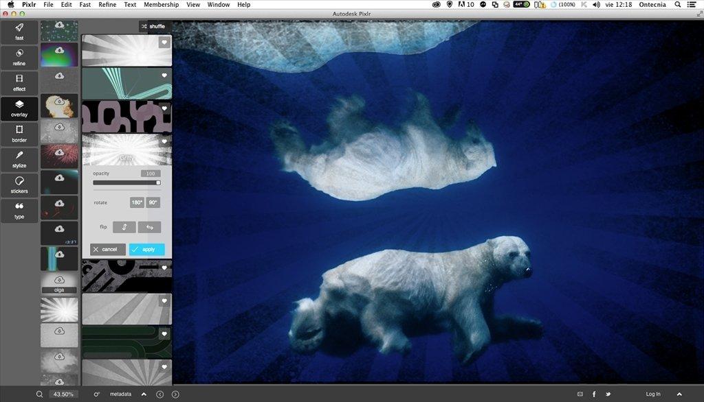 Pixlr 7 1 15 - Download for Mac Free