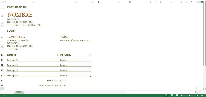 Plantillas Facturación Excel - Descargar para PC Gratis