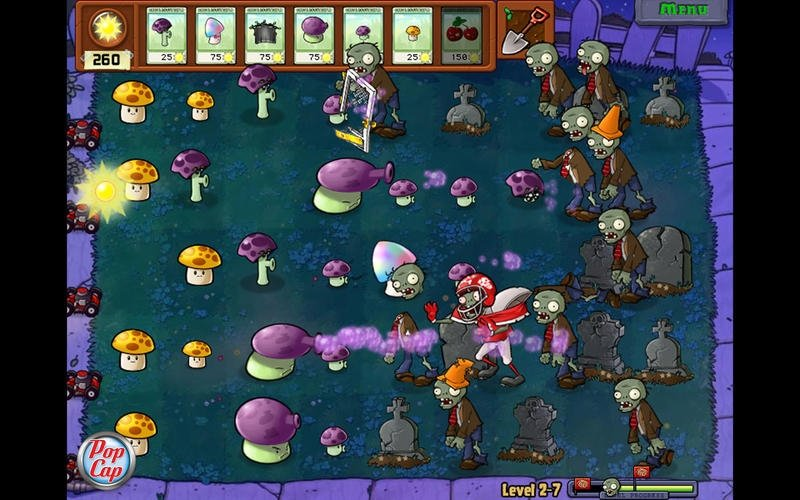 Screenshots of Plants vs. Zombies