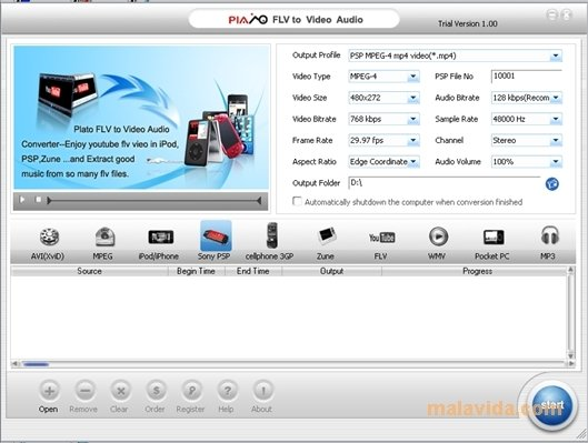 Plato FLV to Video Audio Converter image 4