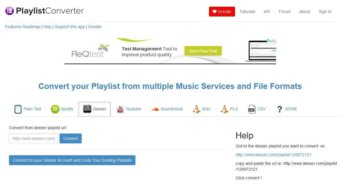 Playlist Converter Online (English) - Free