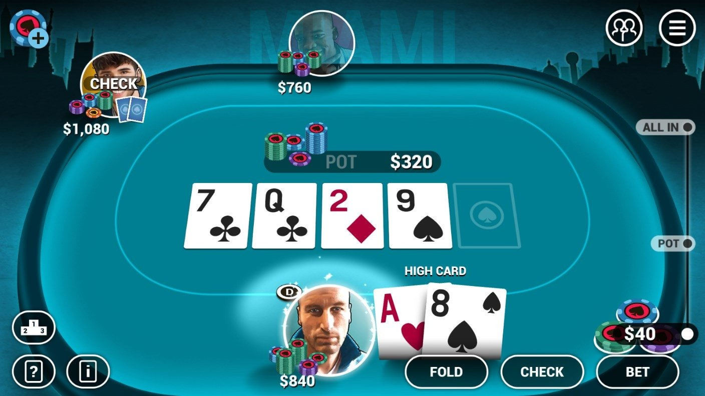 The card: poker, texas hold 'em, blackjack and page one | jeux à.