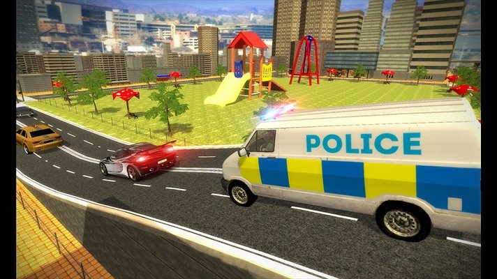 Police Mini Bus Crime Pursuit 3D image 5