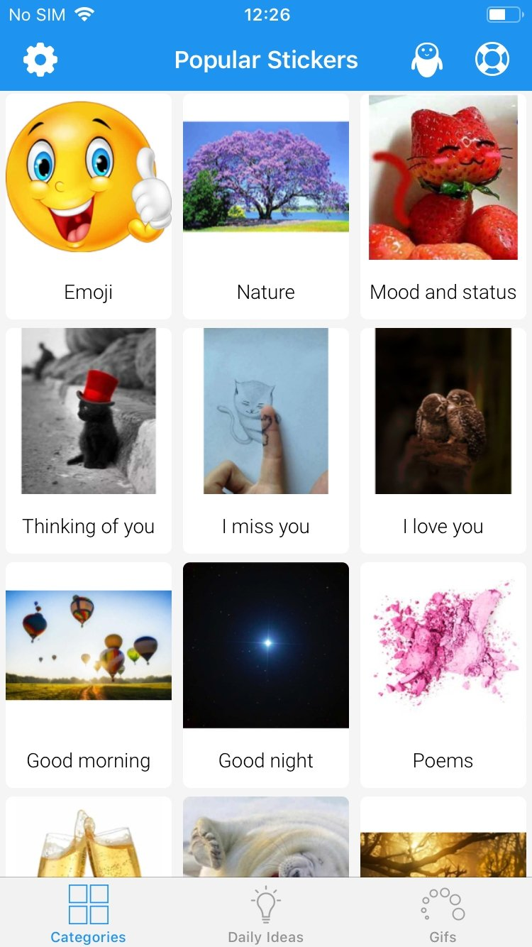 Popular Stickers - Download for iPhone Free