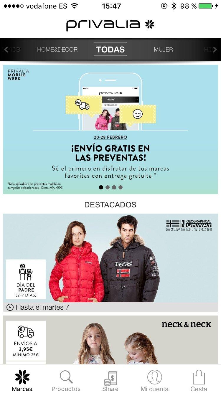 Privalia Outlet online de moda Descargar para iPhone Gratis