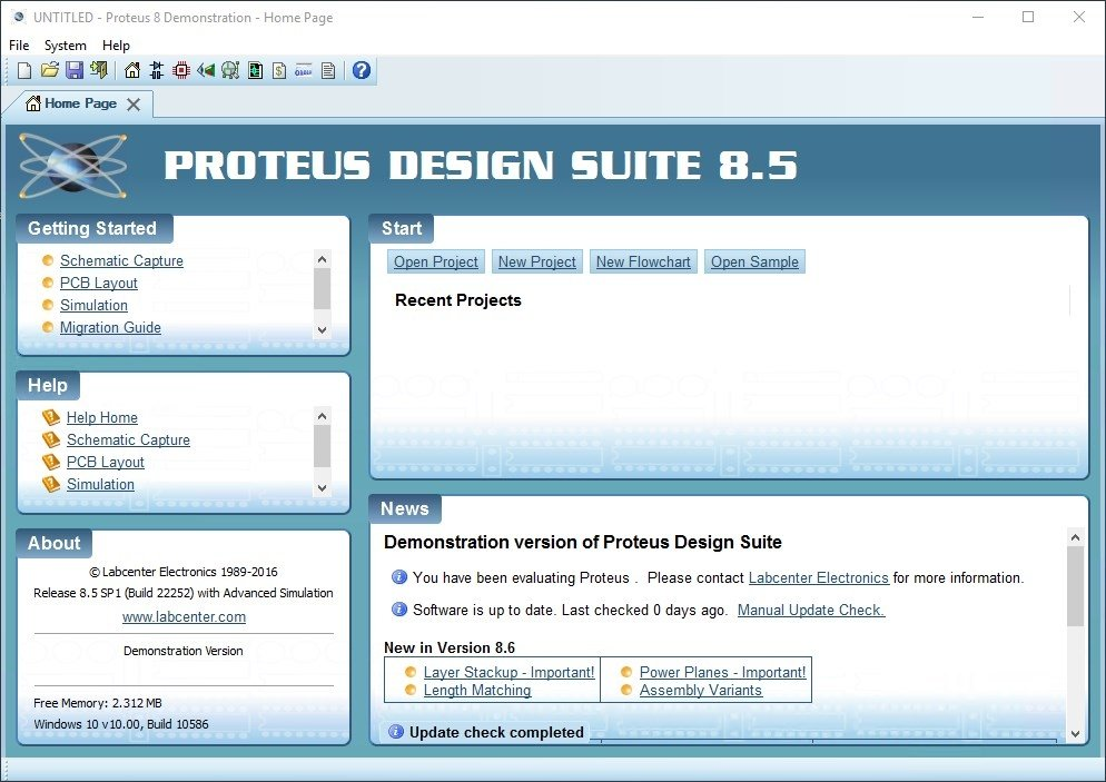 Proteus 8.2 SP2 Professional Demo