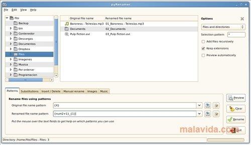 pyRenamer Linux image 4