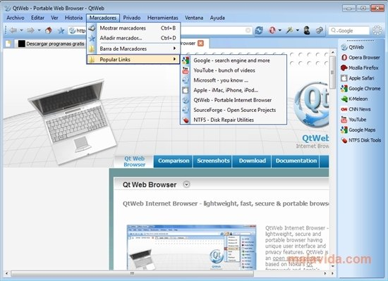QtWeb 3.8.5 - Download for PC Free