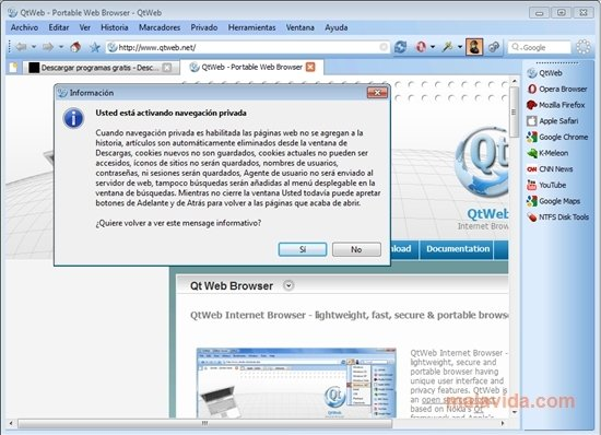 QtWeb 3 8 5 - Download for PC Free