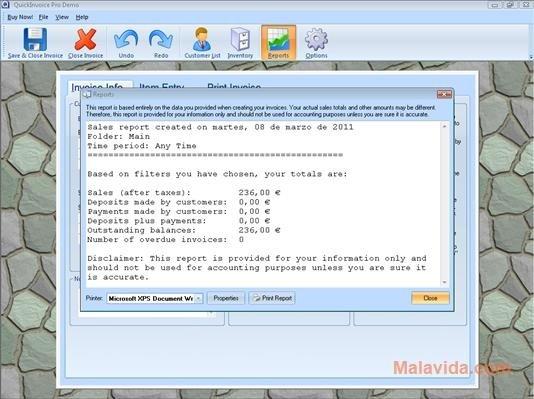 Download Quick Invoice Pro Free - Create quick invoice