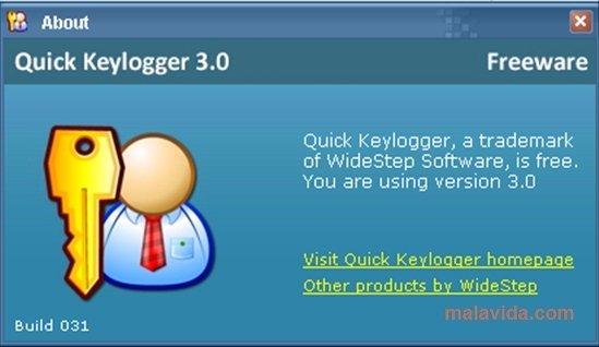 widestep quick keylogger 3.0