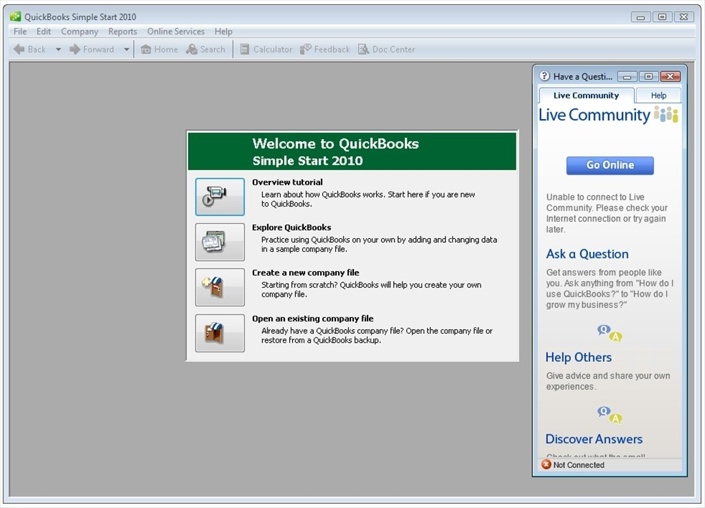 financial free quickbooks software 2010