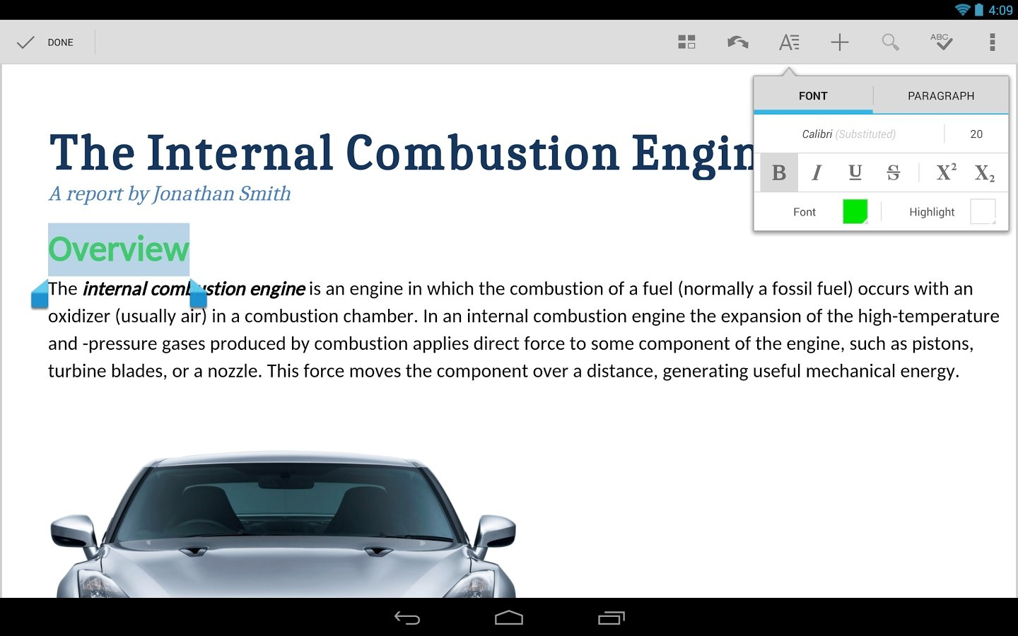 Quickoffice Android image 8
