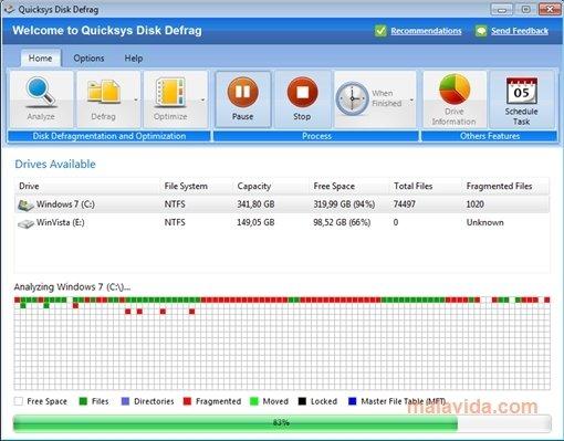 quicksys disk defrag gratis